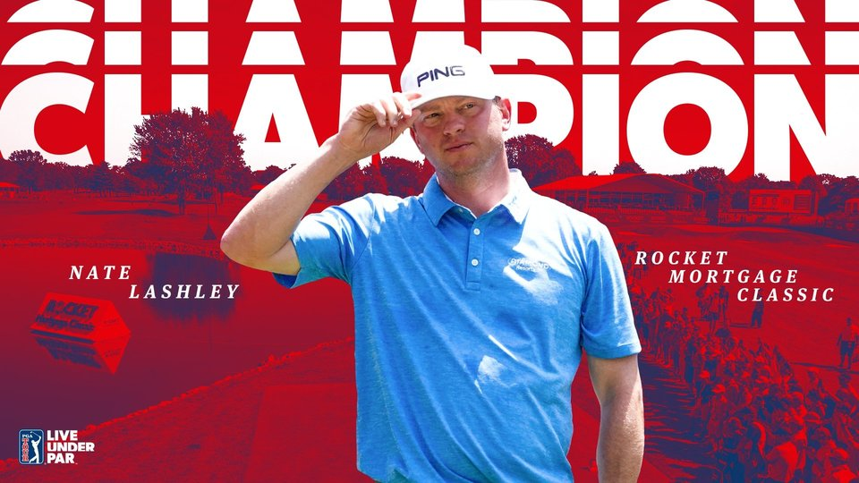 Nate Lashley đăng quang Rocket Mortgage Classic bằng chiến thắng wire-to-wire